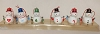 Miniature Tophat Snowmen with Mittens  set of 6 - No Box