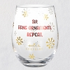 2020 Hallmark Stemless Wineglass - Sip, Hang Ornaments, Repeat