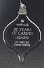 1990 80 Years of Caring HALLMARK EMPLOYEE 25 Year Club Meeting Acrylic Ornament