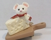 1992 Merry Swiss Mouse - clip on ornament
