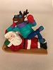 1995 Santa and Rodney on Toboggan - NEVER ISSUED Club ORNAMENT - RARE