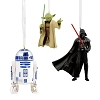 2020 Star Wars, Darth Vader, R2-D2, & Yoda set of 3 - Regular size Hallmark ornaments