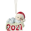 2021 Babys First Christmas Boy - Avail JUNE Dated Precious Moments Ornament