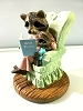 Mother Raccoon Reading Bible Stories - Tender Touches Figurine