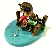Raccoons Fishing - Tender Touches Figurine