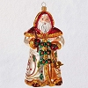 2019 Santa with Bells - Heritage Collection Blown Glass