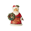 2019 Santa with Wreath Figurine - Jim Shore Heartwood Creek