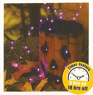 Fairy Lights - 60 inch Battery Operated Micro LED Light String, Purple