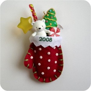 "<font face=""arial"" size=""2""><b>2008 A Christmas Surprise</b><br>2008 Hallmark Keepsake Ornament <br><i> (Scroll down for additional details) </i> </font>"