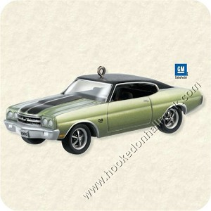 "<font face=""arial"" size=""2""><b>2008 Classic American Car #18 - 1970 Chevrolet Chevelle SS</b><br>2008 Hallmark Keepsake Series Ornament <br><i> (Scroll down for additional details) </i> </font>"