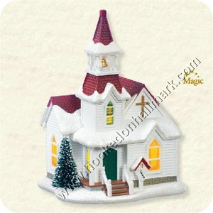 "<font face=""arial"" size=""2""><b>2008 Candlelight Services #11 - Countryside Church</b><br>2008 Hallmark Keepsake Series Ornament <br><i> (Scroll down for additional details) </i> </font>"