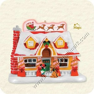 "<font face=""arial"" size=""2""><b>2008 Deck the House</b><br>2008 Hallmark Keepsake Magic Ornament <br><i> (Scroll down for additional details) </i> </font>!"