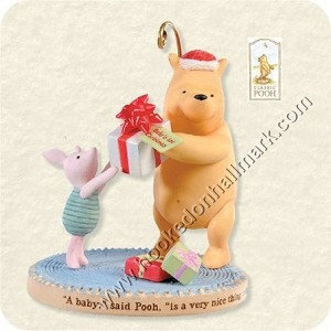 "<font face=""arial"" size=""2""><b>2008 Baby's First Christmas - Winnie the Pooh </b><br>2008 Hallmark Keepsake Disney Ornament <br><i> (Scroll down for additional details) </i> </font>"