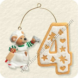 "<font face=""arial"" size=""2""><b>2008 My Fourth Christmas - Child's Age Collection </b><br>2008 Hallmark Keepsake Ornament <br><i> (Scroll down for additional details) </i> </font>"