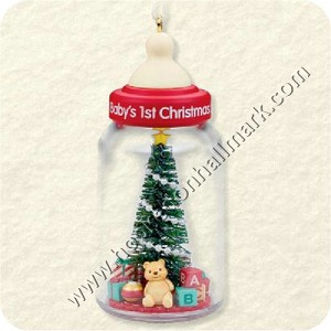 "<font face=""arial"" size=""2""><b>2008 Baby's First Christmas </b><br>2008 Hallmark Keepsake Ornament <br><i> (Scroll down for additional details) </i> </font>"