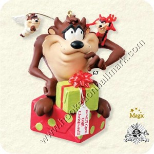 "<font face=""arial"" size=""2""><b>2008 Naughty or Nice</b><br>2008 Hallmark Keepsake Magic Ornament <br><i> (Scroll down for additional details) </i> </font>"