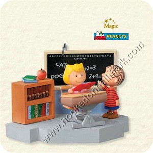 "<font face=""arial"" size=""2""><b>2008 School Days - Peanuts</b><br>2008 Hallmark Keepsake Magic Ornament <br><i> (Scroll down for additional details) </i> </font>"