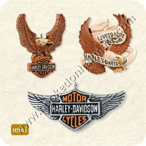"<font face=""arial"" size=""2""><b>2008 An American Legend, Harley Davidson</b><br>2008 Hallmark Keepsake Miniature Ornaments <br><i> (Scroll down for additional details) </i> </font>"