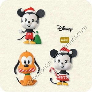 "<font face=""arial"" size=""2""><b>2008 All Set for Christmas, Disney</b><br>2008 Hallmark Keepsake Miniature Ornaments <br><i> (Scroll down for additional details) </i> </font>"