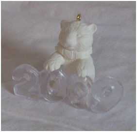 "<font face=""arial"" size=""2""><b>2009 Cool Decade UNPAINTED</b><br>2009 Hallmark Keepsake Event Ornament<br><i> (Scroll down for additional details) </i> </font>"