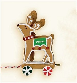 "<font face=""arial"" size=""2""><b>2009 Santa's Sleigh Collection: Dasher & Dancer</b><br>2009 Hallmark Keepsake Ornament <br><i> (Scroll down for additional details) </i> </font>"