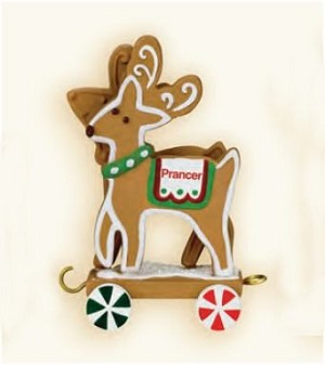 "<font face=""arial"" size=""2""><b>2009 Santa's Sleigh Collection: Donner and Blitzen</b><br>2009 Hallmark Keepsake Ornament <br><i> (Scroll down for additional details) </i> </font>"