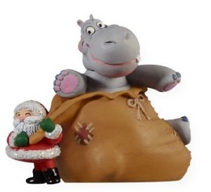 "<font face=""arial"" size=""2""><b>2009 I Want a Hippopotamus for Christmas</b><br>2009 Hallmark Keepsake Magic Ornament <br><i> (Scroll down for additional details) </i> </font>"