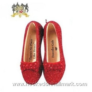 "<font face=""arial"" size=""2""><b>2009 Dorothy's Ruby Slippers</b><br>2009 Hallmark Keepsake LIMITED EDITION Ornament <br><i> (Scroll down for additional details) </i> </font>"