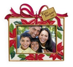 "<font face=""arial"" size=""2""><b>2009 Feliz Navidad Photo Holder</b><br>2009 Hallmark Keepsake Ornament <br><i> (Scroll down for additional details) </i> </font>"