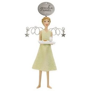 "<font face=""arial"" size=""2""><b>2009 Grandma Angel</b><br>2009 Hallmark Keepsake Ornament <br><i> (Scroll down for additional details) </i> </font>"