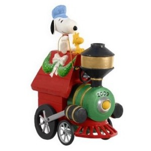 "<font face=""arial"" size=""2""><b>2009 All Aboard for Holiday Fun </b><br>2009 Hallmark Keepsake Ornament <br><i> (Scroll down for additional details) </i> </font>"