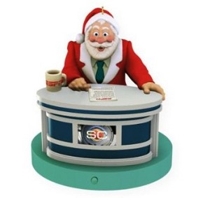 "<font face=""arial"" size=""2""><b>2009 SportsCenter Santa - ESPN</b><br>2009 Hallmark Keepsake Magic Ornament <br><i> (Scroll down for additional details) </i> </font>"
