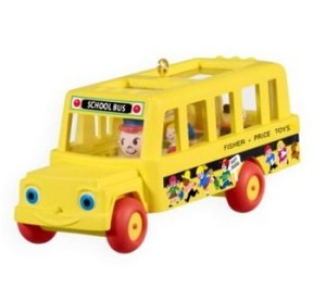 "<font face=""arial"" size=""2""><b>2009 Fisher Price School Bus</b><br>2009 Hallmark Keepsake Ornament <br><i> (Scroll down for additional details) </i> </font>"