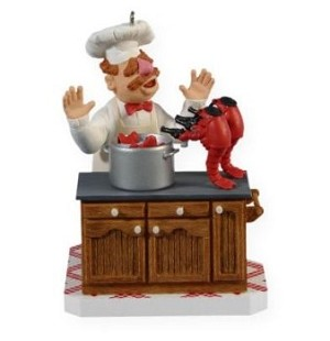 "<font face=""arial"" size=""2""><b>2009 The Swedish Chef </b><br>2009 Hallmark Keepsake Ornament <br><i> (Scroll down for additional details) </i> </font>"