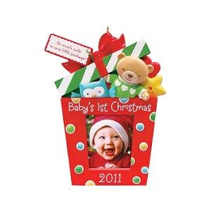 2011 babys first christmas photoholder