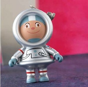 2012 Mystery Ornament, Silver Astronaut Frosty - Rare