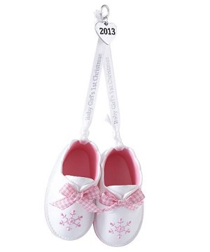2013 Baby Girl's First Christmas Hallmark Christmas Ornament | Hallmark Keepsake Ornaments at Hooked on Hallmark Ornaments