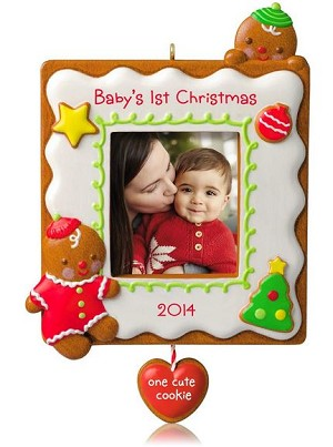 2014 babys first christmas cute cookie