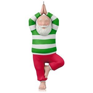 2015 Santa Yoga Hallmark Keepsake Ornament - Hooked on Hallmark ...