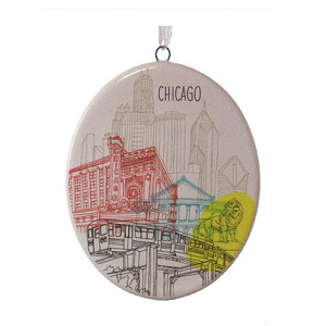 2016 cityscapes chicago - Chicago Christmas Ornaments