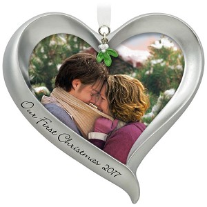 Hallmark Our First Christmas Ornament.2017 Our First Christmas Photo Holder
