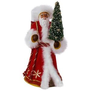 2017 Father Christmas African American Hallmark Christmas Ornament - Hooked on Hallmark Ornaments