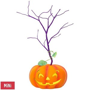 2018 Halloween - Jack O Lantern Miniature Tree - LED lighted