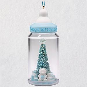 2018 Baby Boys First Christmas Hallmark Keepsake Ornament Hooked
