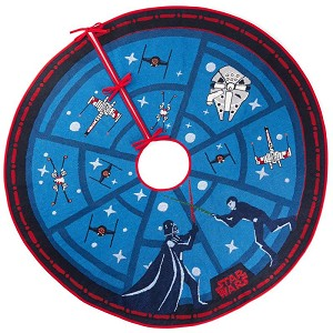 2019 Star Wars Force Is Strong Tree Skirt -  LIGHTED - Click for Video