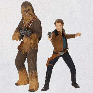 2018 star wars han solo and chewbacca - Chewbacca Christmas Ornament