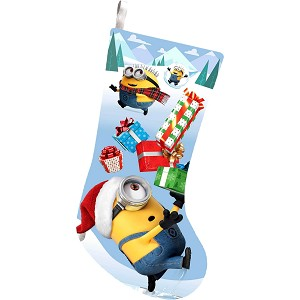 Minions Christmas.Despicable Me Minion Christmas Stocking
