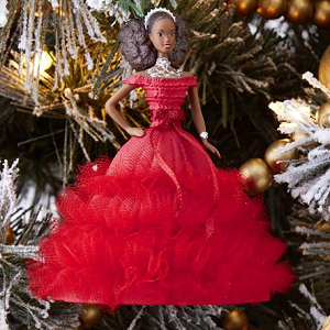 Barbie Christmas Ornament.2018 Holiday Barbie 4 African American