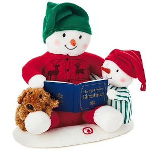 2019 Story Time Snowman - (CLICK for VIDEO) MUSICAL PLUSH TABLETOP