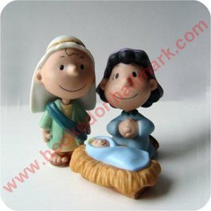 Peanuts Nativity - Holy Family Figurines